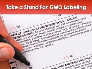 Bruce Bradley takes a stand and demands labeling of foods containing GMO ingredients.