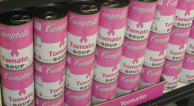 Pink Breast Cancer Awareness Soup display