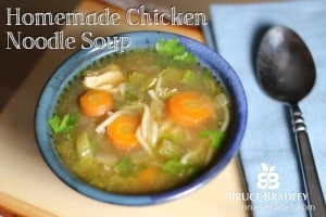 Homemade Chicken Noodle Soup is a great option to canned soup.