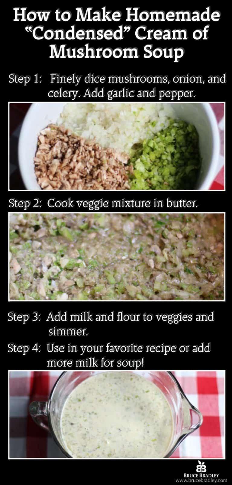 How to make Homemade Cream of Mushroom Condensed Soup