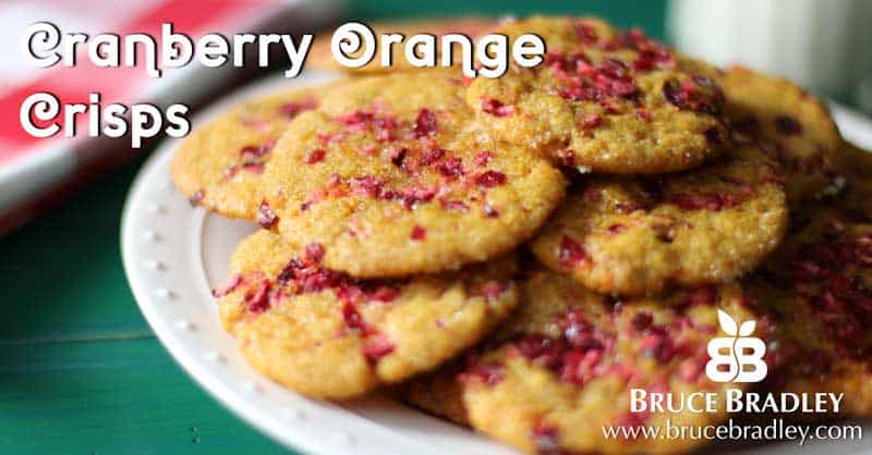 Cranberry Orange Crisps are a delicious cookie that will soon become one of your holiday favorites!