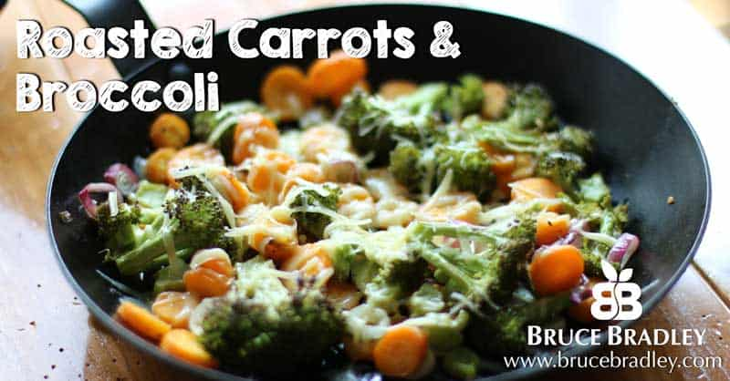 Bruce Bradley's Roasted Carrots and Broccoli are so delicious you won't have to beg with your kids to eat their veggies anymore!