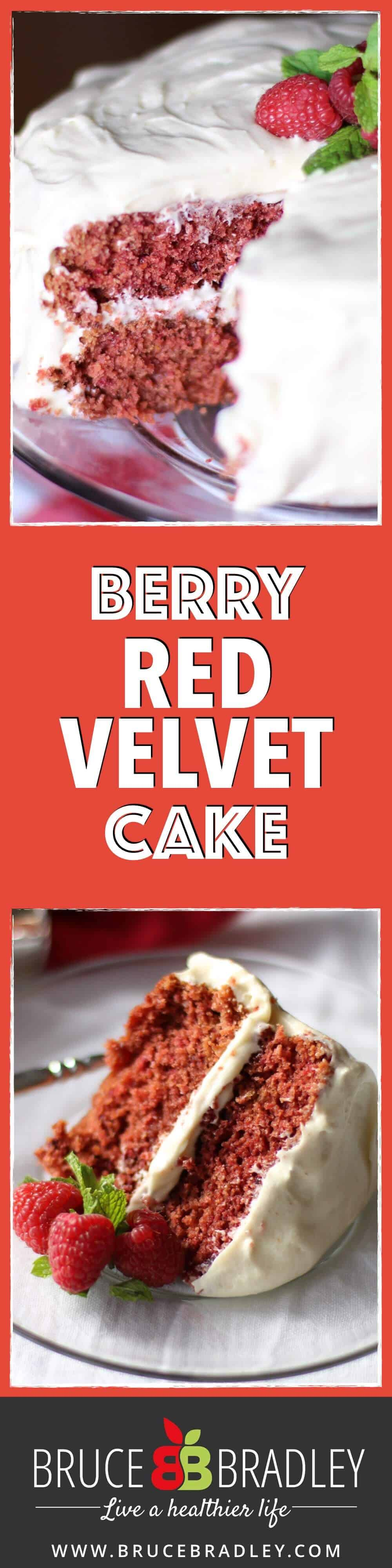 Finally! A Red Velvet Cake recipe that contains real ingredients, no artificial colors, and tastes delicious! Raspberries and cocoa give this dessert a wonderfully delicious, rich, fresh taste!