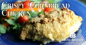 Say goodbye to KFC's Colonel for good and give Bruce Bradley's Crispy Cornbread Chicken a try. It's a sure-fire, REAL food hit that you can definitely feel better about!