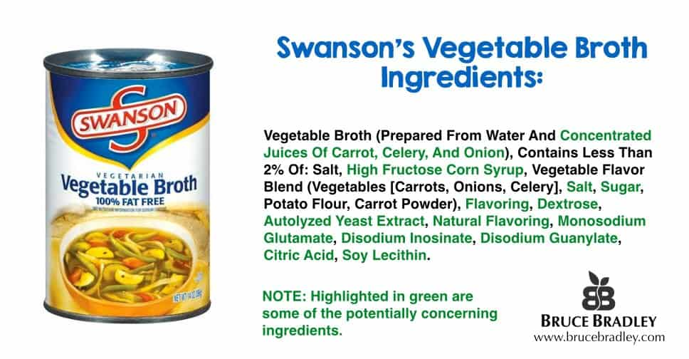 Swanson vegetable broth is more like a highly processed, flavored salt water than real broth.