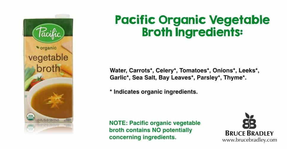 Unlike Swanson vegetable broth, some brands contain real vegetables and don't use highly processed ingredients to flavor their broth.