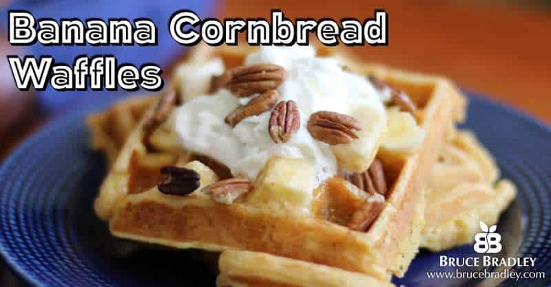 Banana Cornbread Delight Whole Grain Waffles are a truly delicious way to treat your family to an amazing breakfast made with REAL ingredients!