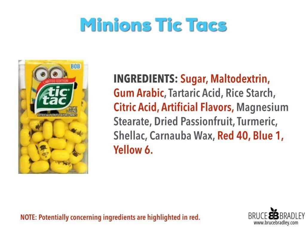 Minions Tic Tac Ingredients: