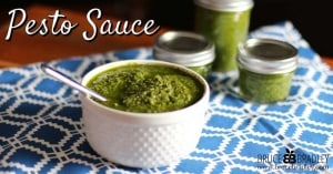 A delicious, real pesto sauce that's quick and easy to make with options to make it more affordable by substituting other greens.