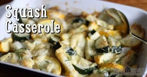 Bruce Bradley's squash casserole is a delicious blend of yellow and zucchini squash seasoned with onions and cheese!