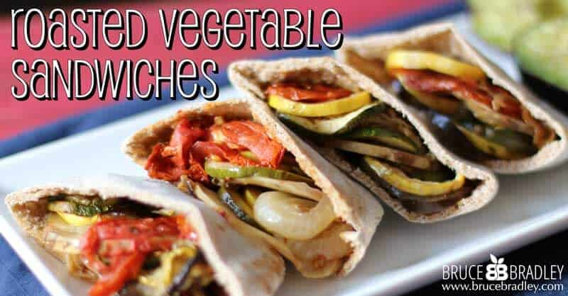 Bruce Bradley's veggie pita sandwiches are amazing little pockets of deliciousness!