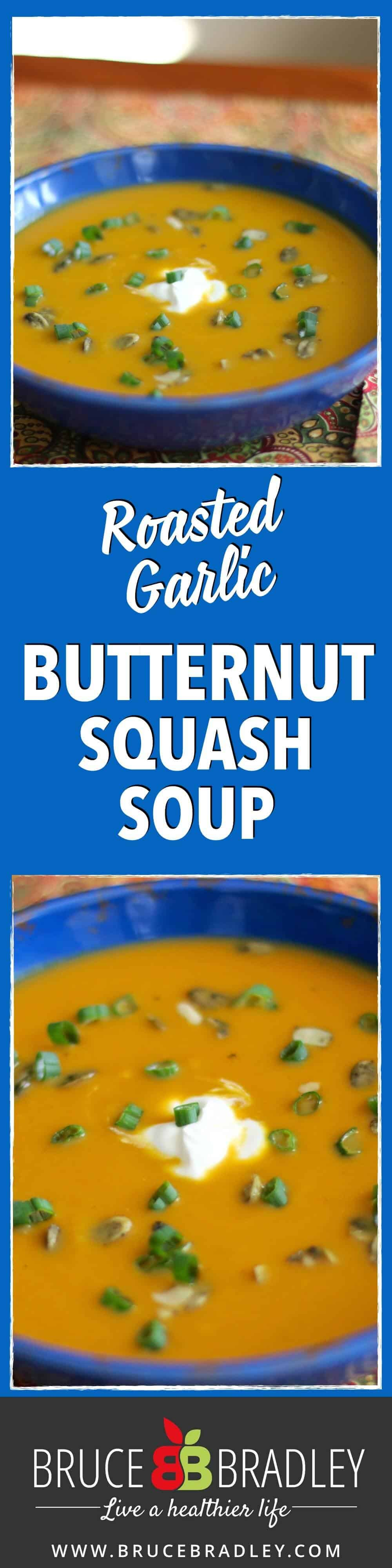 This amazing butternut squash soup brings together roasted garlic, leeks, apples, ginger, and maple syrup for the most delicious bowl of soup I've tasted!