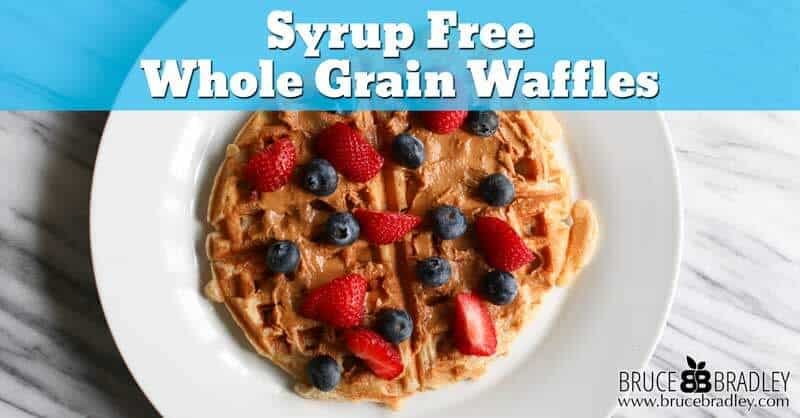 How can whole grain waffles get even better for you? Ditch the syrup and use nut or seed butters.