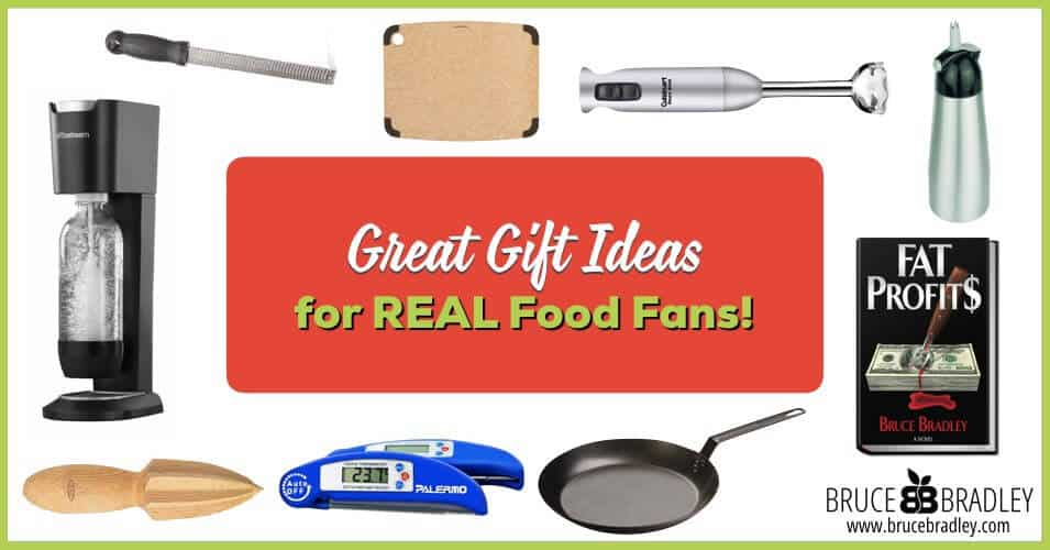 A great list of 15 wonderful gift ideas for real food, clean eating fans!