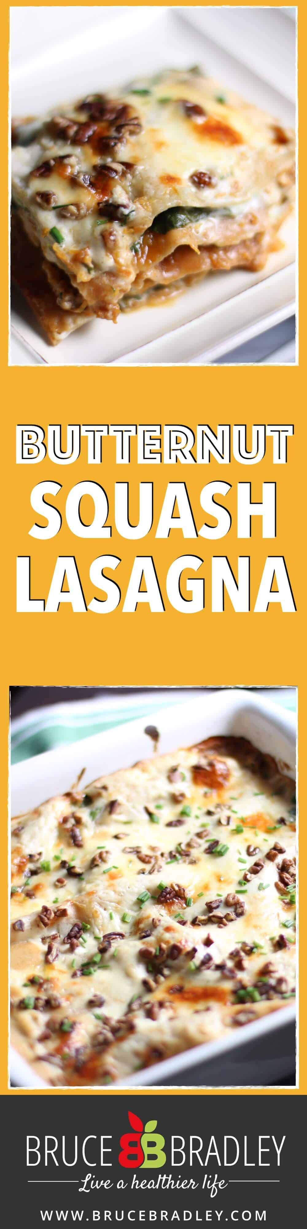This Butternut Squash Lasagna recipe is a delicious, mouth-watering twist on traditional lasagna that's made with butternut squash, spinach, and Swiss cheese!