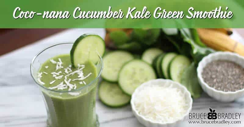 Green smoothies like this Coco-nana Cucumber Kale Green Smoothie are a delicious way to get more greens in your diet! Made with kale, cucumbers, bananas, coconut, and chia seeds, this is one great way to eat and drink good stuff!