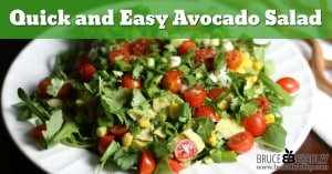 This Avocado Salad is a delicious, easy way to eat more vegetables. Made with avocados, corn, cherry tomatoes, green onions, cilantro, lime juice and olive oil, this avocado salad really is an amazing taste treat!