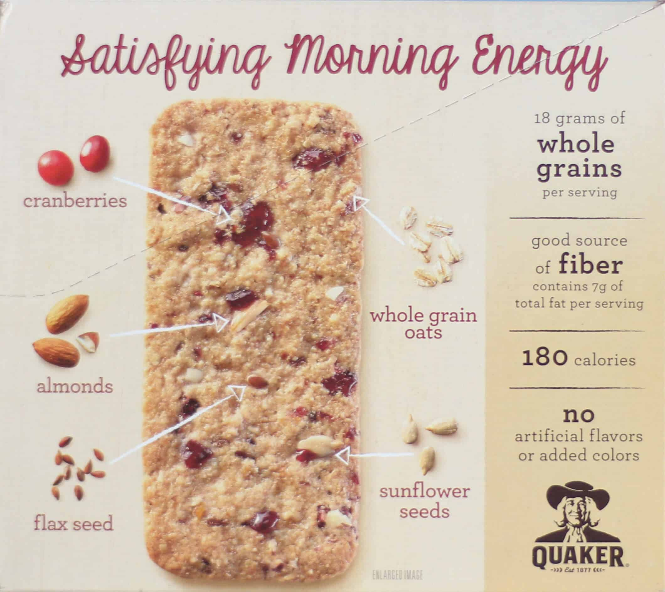 Quaker Breakfast Flats like to talk about all the great ingredients they're made with, but they leave out one key fact. They've got tons of added sugar in them!