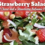 Serve up a delicious helping of spring or summer with this Strawberry Salad with goat cheese, pistachios, and a creamy Strawberry Balsamic Vinaigrette!