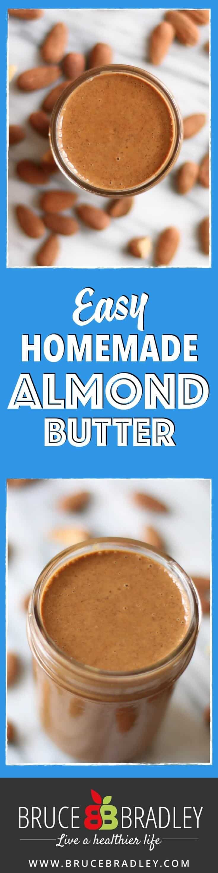 Homemade almond butter is a deliciously easy way to start eating healthier while saving some money!