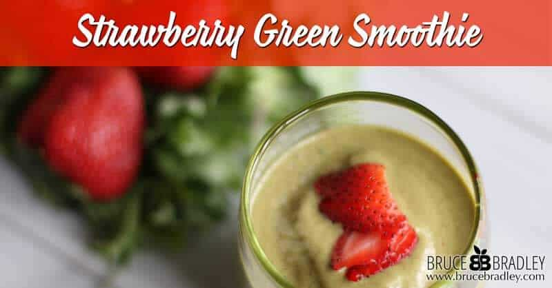 Spring into better health with this delicious Strawberry Green Smoothie made with a mix of healthy greens, bananas, and almond butter!