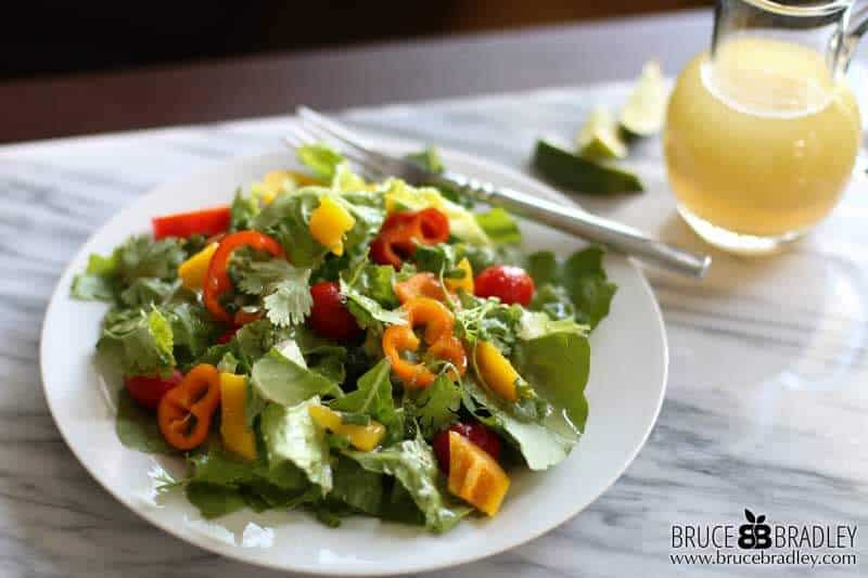 This Citrus Lime Vinaigrette packs a whole lot of flavor and is a simple way to spice up your salad!