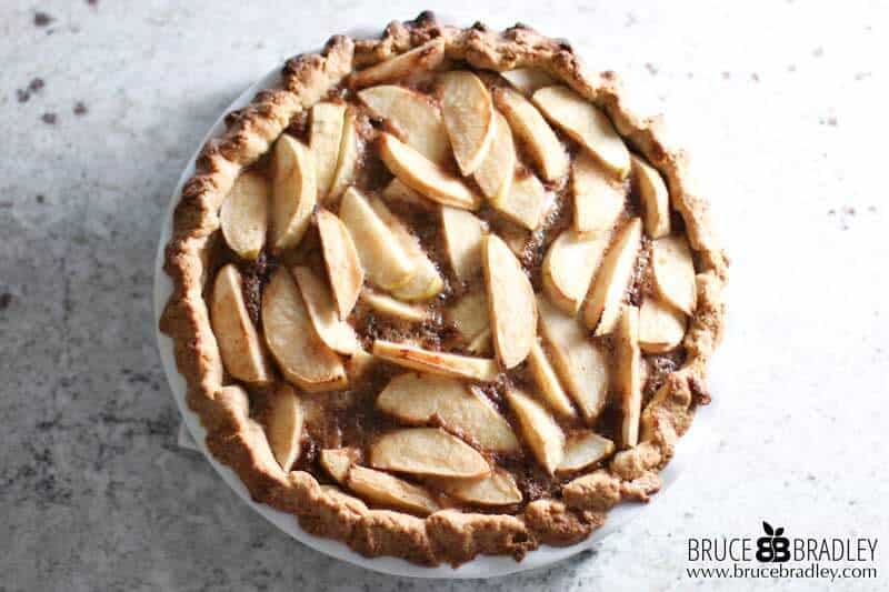 """A delicious """"open face"""" single crust apple pie that's super easy to make and even better the next day!"""