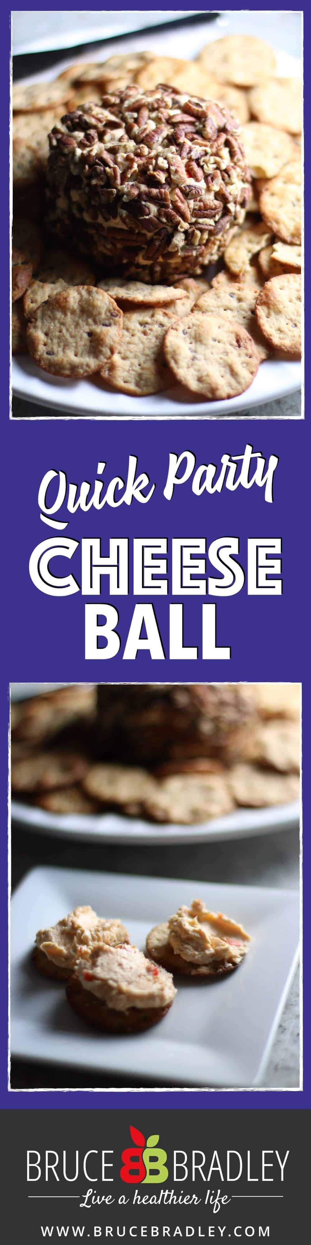 This Quick Party Cheese Ball recipe is a crowd-pleasing appetizer that can be made ahead of time and is made from real ingredients!