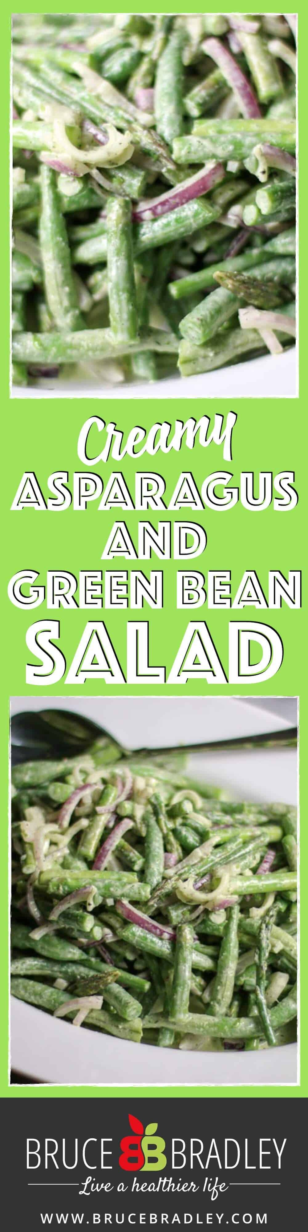 This Creamy Asparagus and Green Bean Salad proves that two great tastes can taste even better together! So delicious and easy, it's perfect for any night of the week!